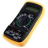 Digital Multimeter, Portable Multi Tester AC DC Amp Ohm Volt Tester Meter with Back light LCD Display