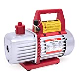 Kozyvacu TA350 Single-Stage Rotary Vane Vacuum Pump for HVAC/Auto AC Refrigerant Recharging, Wine...