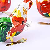 ARTCLUB Jumping Rooster, Cock Metal Animal Winds