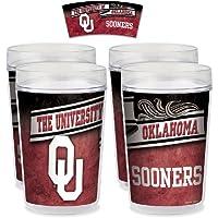 NCAA University of Oklahoma Tumbler (Set of 4), 16 oz