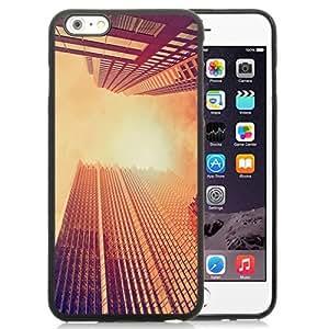 NEW Unique Custom Designed iPhone 6 Plus 5.5 Inch Phone Case With Look Up Skyscrapers Sunset_Black Phone Case