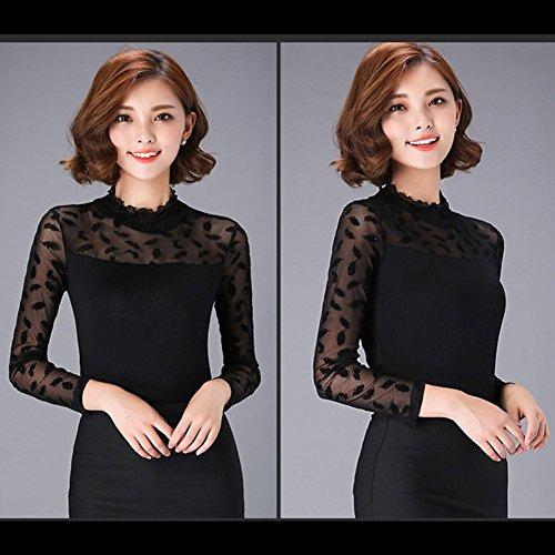 LOCOMO Tops (Luxury) - Camisas - para mujer Leaf Pattern