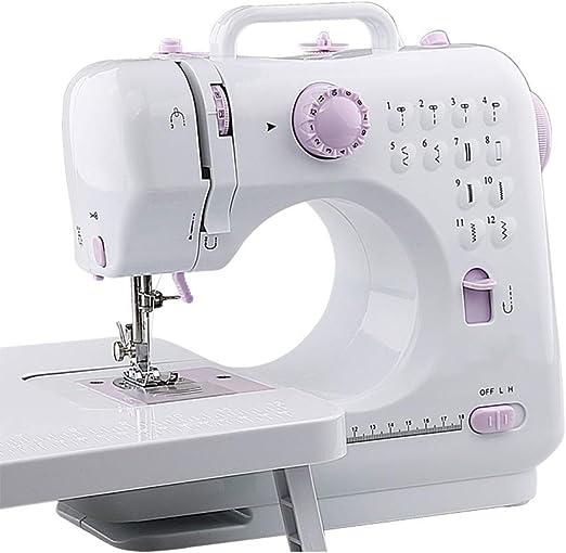 Teng Peng Máquina de Coser, Mini portátil de 12 Puntos, máquina de reparación básica fácil de Usar for niños y Adultos. Máquina de Coser eléctrica doméstica: Amazon.es: Hogar