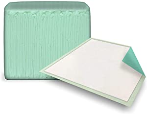 10 Pack Green Underpads 23 x 36. Disposable Backsheet Pads. Incontinence Care for Men, Women. Unisex Sanitary Hygiene. Effective Leak Protection for Beds, Mattresses, Furniture. Moderate Absorbency