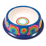 NewAgePet Paw Proof BPA-Free Plastic Tie Dye Design Pet Dish, 6-Inch, My Pet Supplies