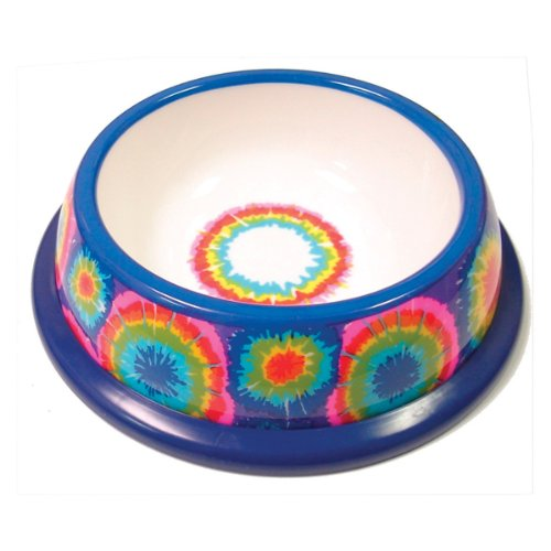 NewAgePet Paw Proof BPA-Free Plastic Tie Dye Design Pet Dish, 6-Inch, My Pet Supplies