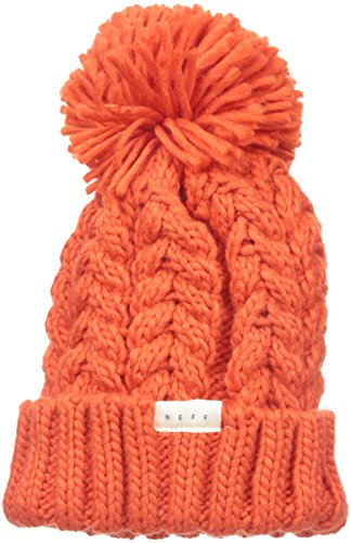 - NEFF Kaycee Slouchy Knit Beanie Winter Hats for Women, Orange, One Size