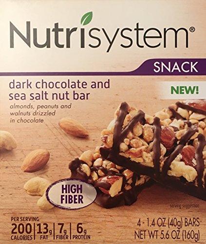 Nutrisystem Dark Chocolate & Sea Salt Nut Bar, 4 Bars (System Nuts)