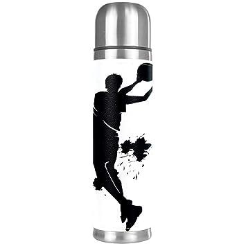 Indimization Hombre de Baloncesto Negro Botella de Agua de 500 ml ...