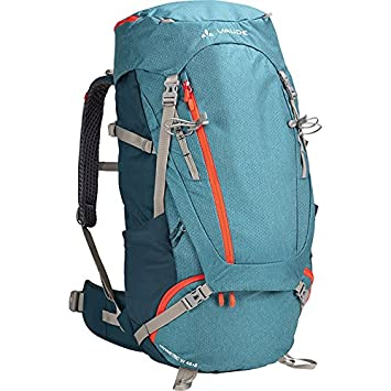VAUDE Women s Asymmetric 48 8 Backpack – Lightweight Women s Touring Backpack for Multi-Day Hikes, Trekking and Backpacking – Adjustable Suspension System – 50-60 Litre Volume