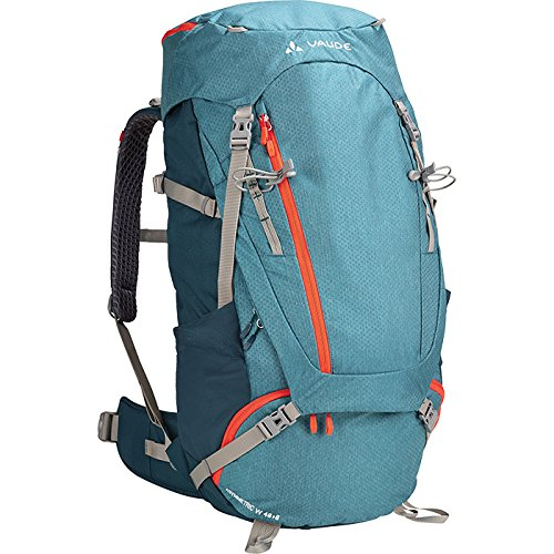 Xt Mens Wings (VAUDE Women's Asymmetric 48+8 Backpack - Lightweight Women's Touring Backpack for Multi-Day Hikes, Trekking and Backpacking - Adjustable Suspension System - 50-60 Litre Volume - Blue Sapphire)