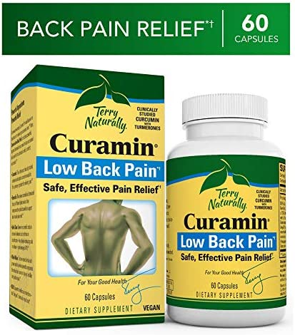 Terry Naturally Curamin Low Back Pain – 60 Vegan Capsules – Targeted Relief Supplement, Supports Healthy Cartilage Comfort – Non-GMO, Gluten-Free – 20 Servings