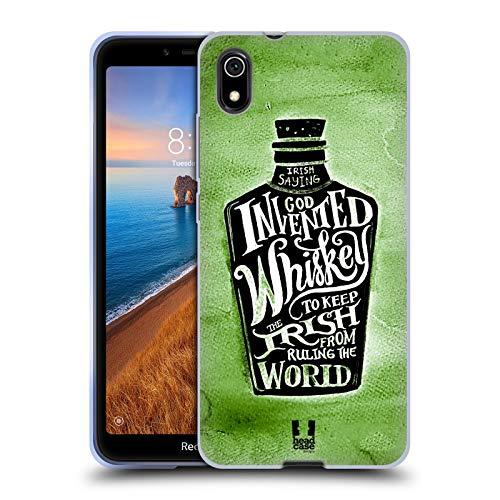 Head Case Designs Whiskey Bottle Irish Craic Soft Gel Case Compatible for Xiaomi Redmi 7A (2019) (Best Irish Whiskey 2019)
