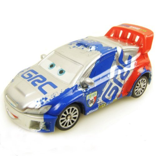Disney Pixar Cars Die cast toy car Kmart Silver Racer Raoul Caroule With Metallic Finish