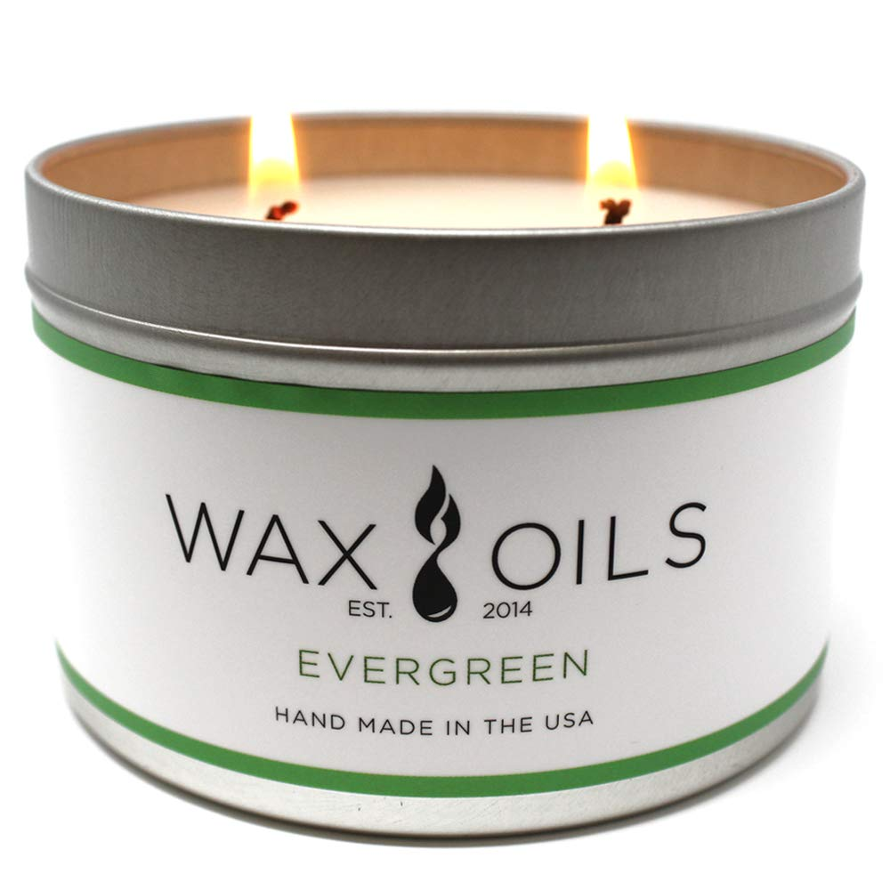 Wax and Oils Soy Wax Aromatherapy Scented Candles (Sandalwood) 16 Ounces. Single Brooklyn View Enterprises