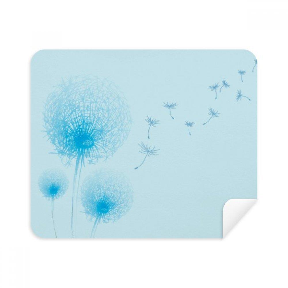青花植物タンポポシード電話画面クリーナーメガネクリーニングクロス2pcsスエードファブリック   B07C92NCJY