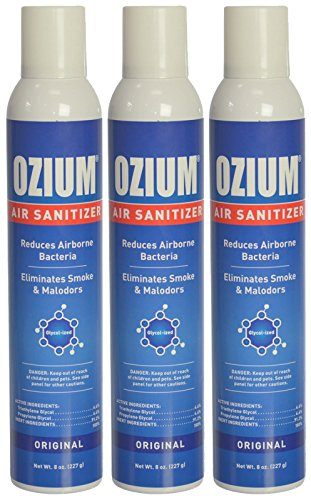 Ozium Glycolized Air Freshener & Sanitizer (8 oz.) - 3 Pack