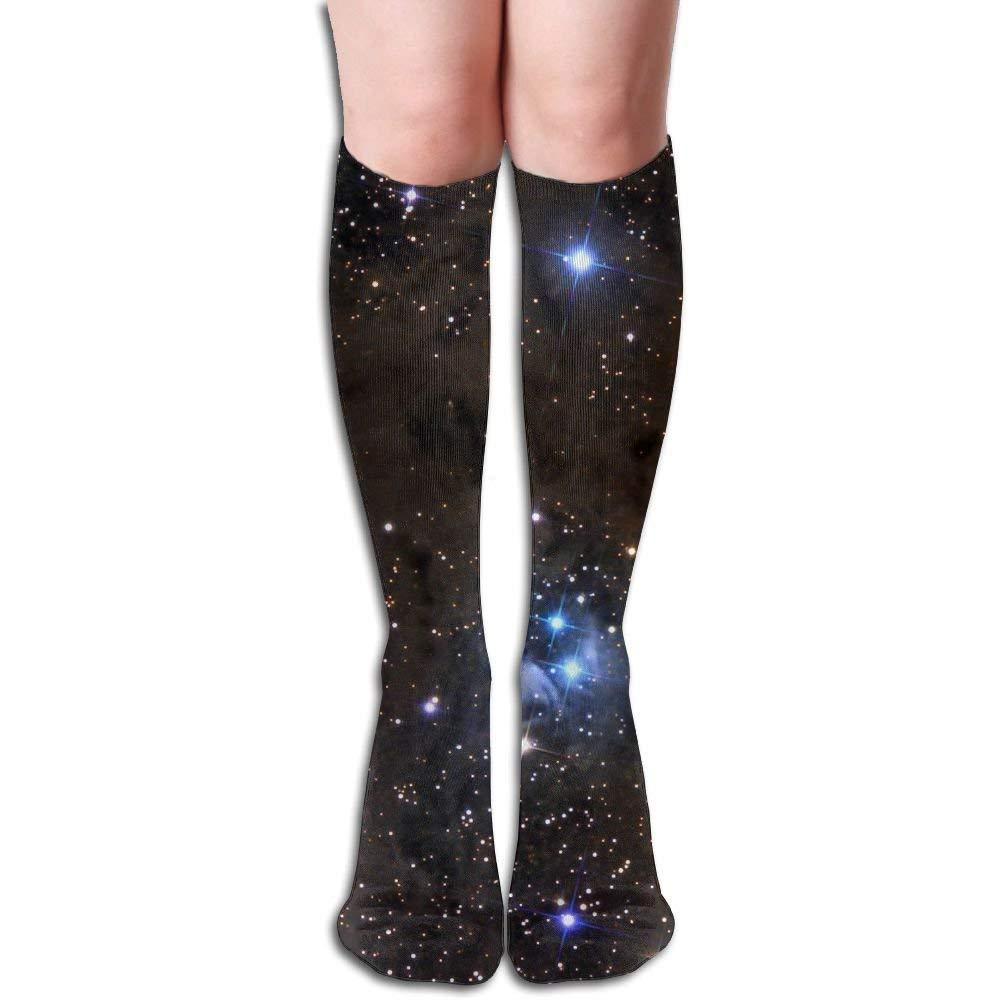 Long 50cm) Compression Socks Shiny-Stars Unisex Full Socks Long Socks Knee High Socks