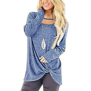 Rikay Womens Ladies New Plain Long Sleeve T Shirt Blouses Tunic Tops Jumper T-Shirts Tee Top 5 Colors S-XXL