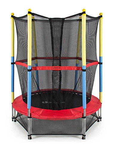 55'' Round Kids Mini Trampoline with Enclosure Net Pad Rebounder Outdoor Exercise by Unknown
