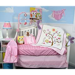 SOHO Cherry Blossom Crib Nursery Bedding Set 14 pcs