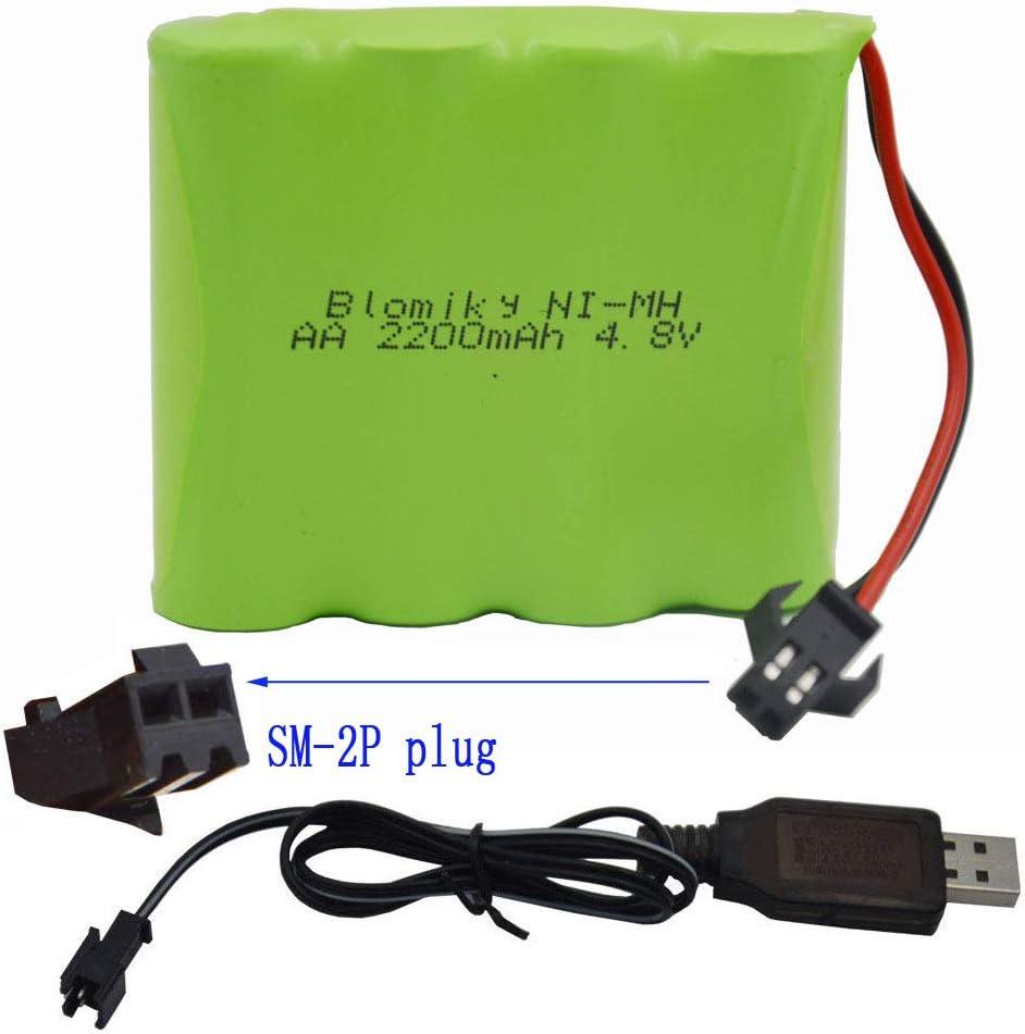 Bateria AA 4.8V 2200mAh NiMH con cable usb SM-2P Plug