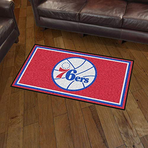 NBA Philadelphia 76Ers 3 Ft. x 5 Ft. Area RUG3 Ft. x 5 Ft. Area Rug, Blue, 3' x 5'