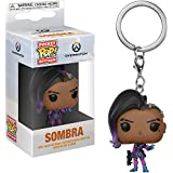Funko Sombra: Overwatch x Pocket POP! Mini-Figural Keychain + 1 Video Games Themed Trading Card Bundle [32794]