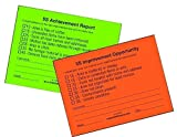 The 5S Store Managment Walk Cards - Quality Control Sticky Notes - Pair of Red/Orange and Green 5S Tags/Pad - 4'' x 3'' - Pack of 50