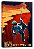 Epic Graffiti Mars Series: Explorers Wanted Giclee Canvas Wall Art