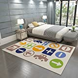 Area Rugs for Children Bedroom Large Soft Carpet , q-03 , 140cm x 200cm