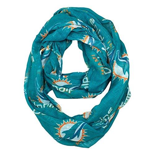 フローアッパー骨NFL公式ライセンスMiami Dolphins薄手ロゴinfinity scarf