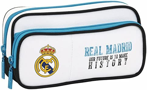 Real Madrid Fc Double Zip Pencil Case 100/% Officially Licensed