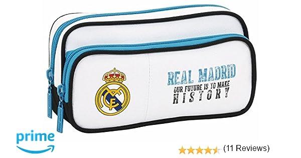 Real Madrid- Estuche portatodo con Bolsillo (SAFTA 811754602),, 21 cm (