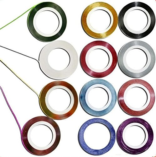 Decoration Sticker Rolls Striping Nail Art Tape Random Mixed 10Pcs 10 Color - Your Select How For Face Eyeglasses To