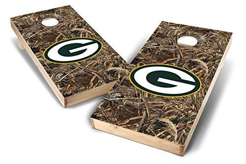 PROLINE NFL 2'x4' Green Bay Packers Cornhole Set - Realtree Max-5 Camo Design