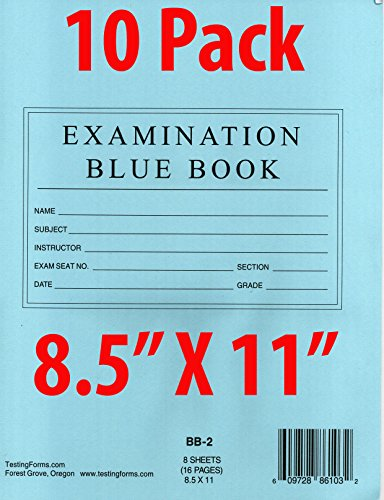 Examination Book (TestingForms.com 8.5