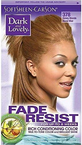 Dark and Lovely - Tinte para el cabello resistente a la decoloración y rico, color rubio miel 378