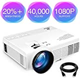ViviMage C3 20%+Brightness Mini LED Projector 1080P HD Supported 170 Display Outdoor Movie Home Theater Video Projector, Support HDMI, Amazon Fire TV Stick, PS4, USB (HD) (1080P HD)
