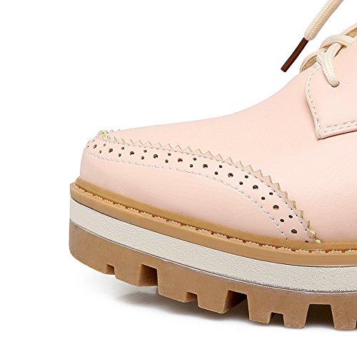 Bandage Out Shoes Urethane 9 Platform Chunky BalaMasa Flats Womens Hollow Heels tqECzEw