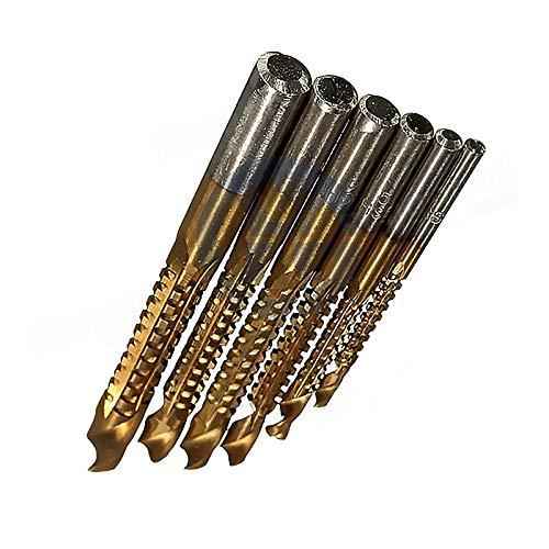 - Drill Bits - 6pcs 3 8mm Titanium Coated Hss Drill Bit Electric Plastic Metal Hole Grooving Saw Carpenter - Drivers Screw Diamond Numbered Keychain Paddle Wood Nails Larger Hole Bulk Jewelr