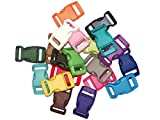 25 Pack Midwest Cord Paracord Buckles 5/8 Inch Webbing Slot Small Plastic Buckles for Parachute Cord Bracelets and Crafts 5/8
