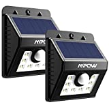 Tools & Hardware : Mpow Solar Lights, 2-Pack 8 LED Bright Solar Powered Security Lights with Motion Sensor Wireless Waterproof Wall Lights for Outdoor Diveway Patio Garden Path Yard Deck