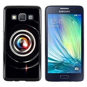 Be Good Phone Accessory // Dura Cáscara cubierta Protectora Caso Carcasa Funda de Protección para Samsung Galaxy A3 SM-A300 // Colorful Lens Flare Close Up