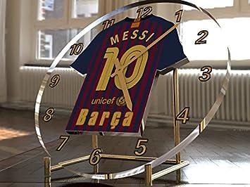 Reloj de sobremesa, diseño de camiseta de fútbol de La Liga española, color FC