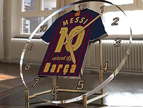 Reloj de sobremesa, diseño de camiseta de fútbol de La Liga española, color FC Barcelona: Amazon.es: Oficina y papelería