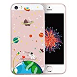 iPhone SE Case, iPhone 5S Case, iPhone 5 Case, Doramifer Childhood Series Protective Case Soft TPU Bumper [Shock-Absorption][Good Grip][Anti-Slip] for iPhone SE/5S/5 (Cosmic Adventure)