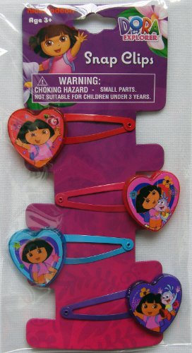 dora-the-explorer-hair-snap-clips-4-pieces-by-nickelodeon