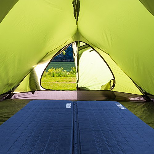 KAMUI pads connected in tent