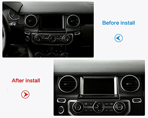 ABS Matte Chrome Navigation Screen Decoration Trim Sticker For Land Rover Discovery 4 2010-2016 by METYOUCAR (Image #3)